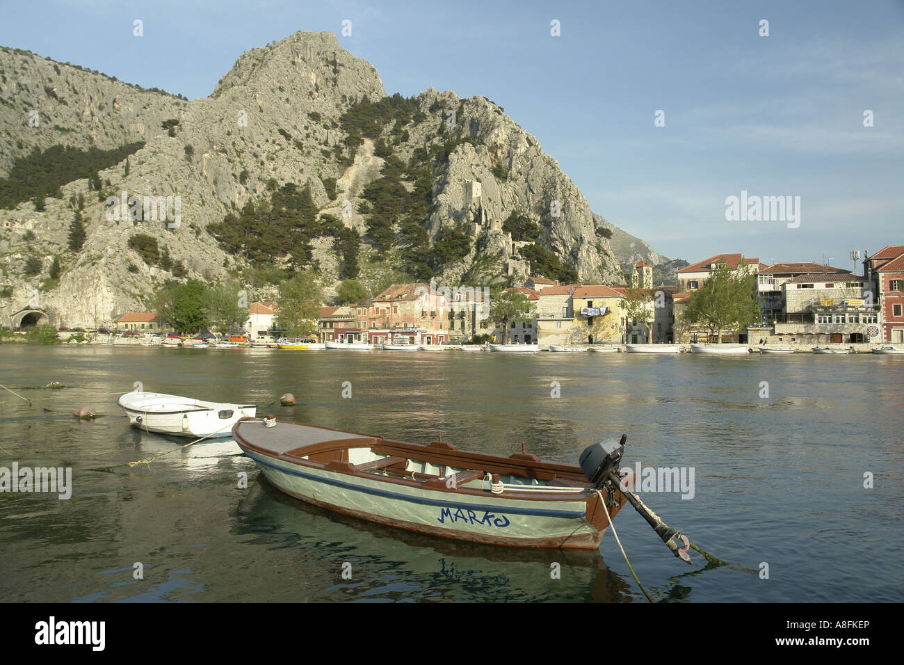 River Cetina and Canyon Omis Omis Makarska Riviera Adria Dalmatia Adriatic coast Croatia Stock Photo