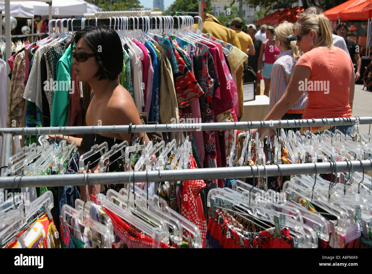 Flea Market Miami >> Miami Beach Florida Lincoln Road Mall Antique Flea Market