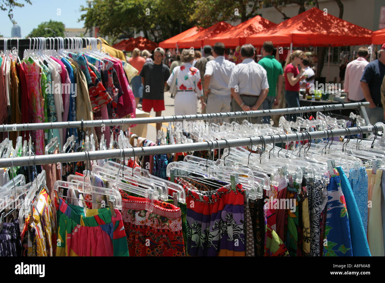Flea Market Miami >> Miami Beach Florida Lincoln Road Mall Antique Flea Market Clothing