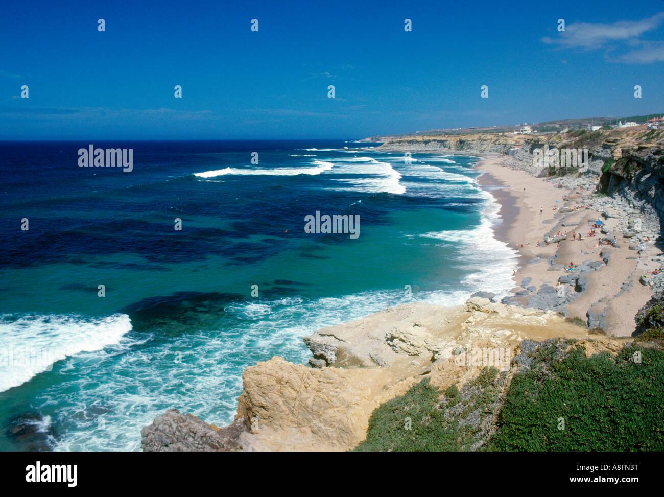 Peniche Algarve natural coast Portugal - Stock Image