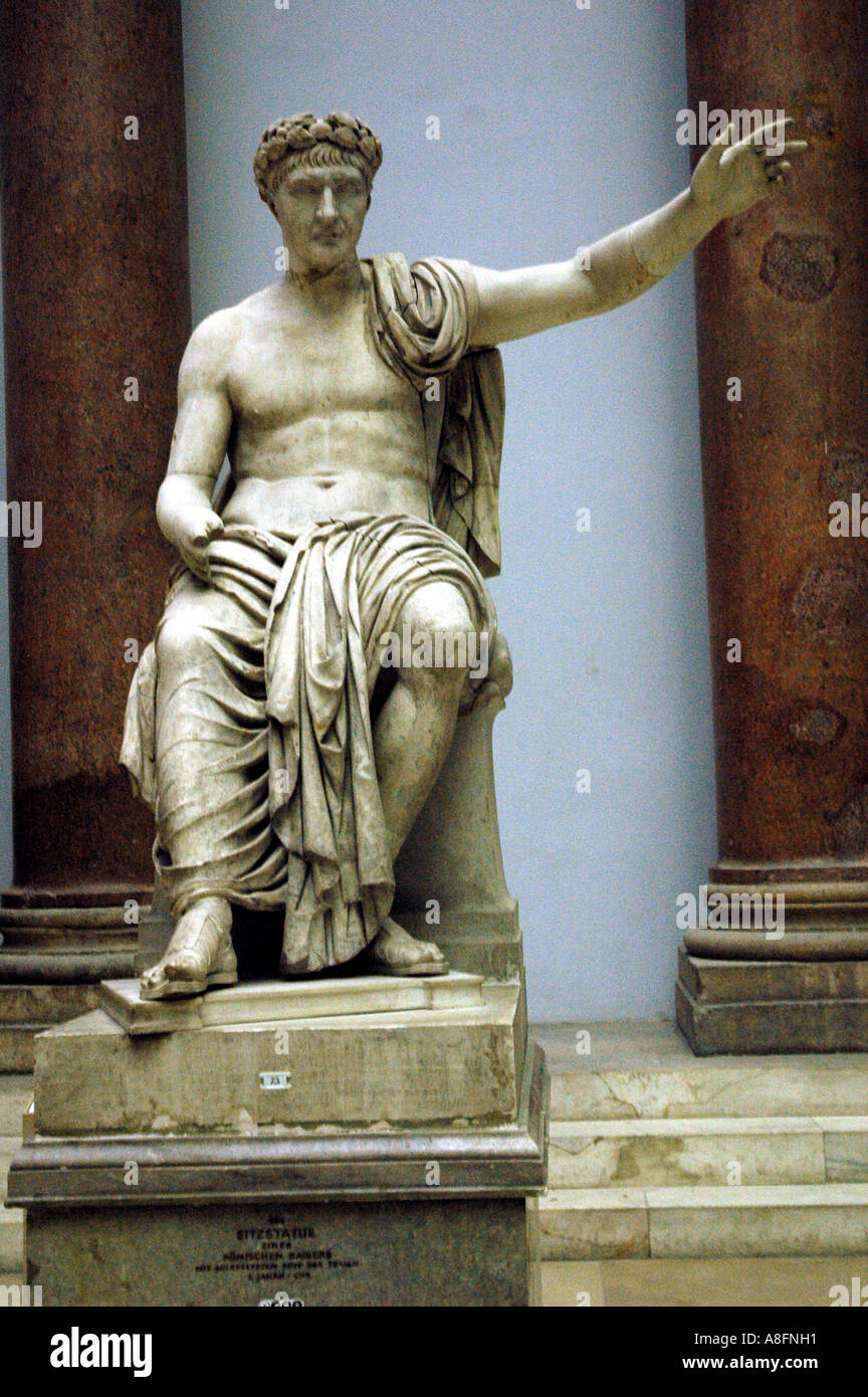 Statue of Julius Caesar in the Pergoman Museum  Berlin Germany - Stock Image