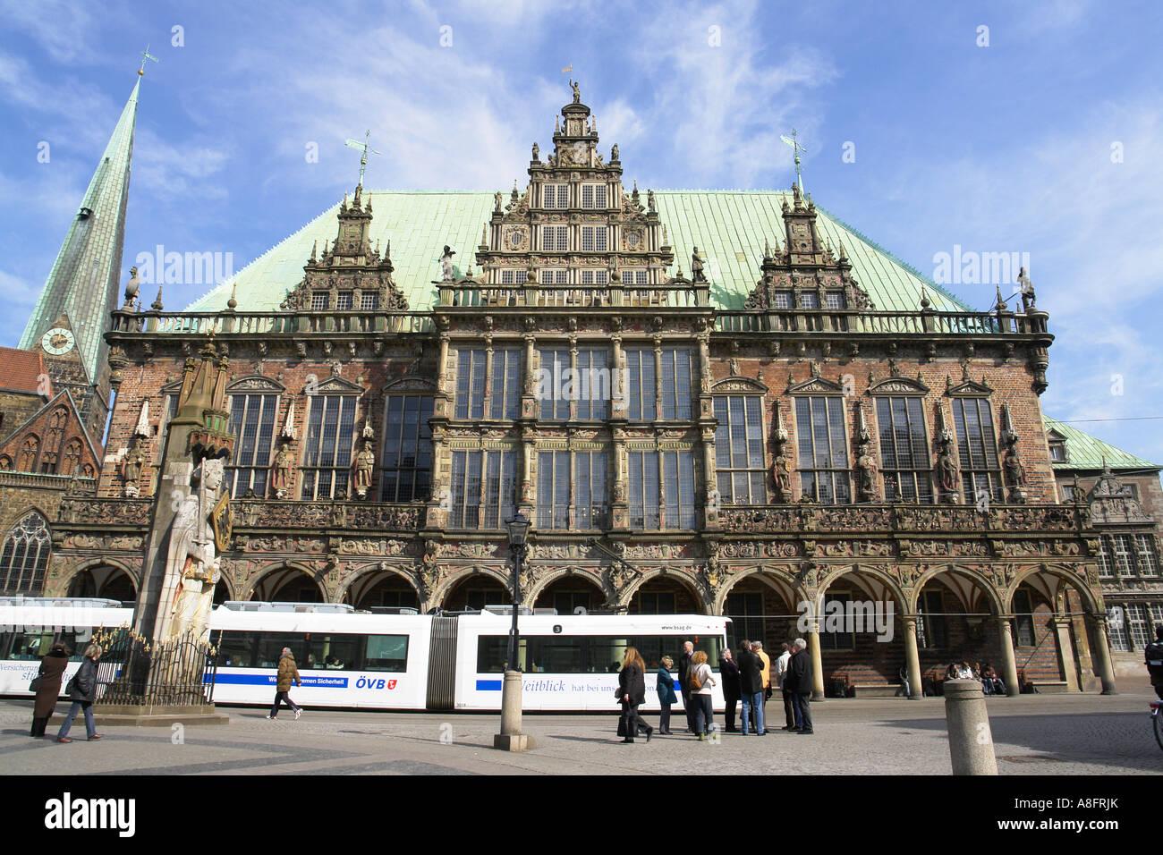 Townhall at Market square Bremen Hansestadt Germany Stock Photo