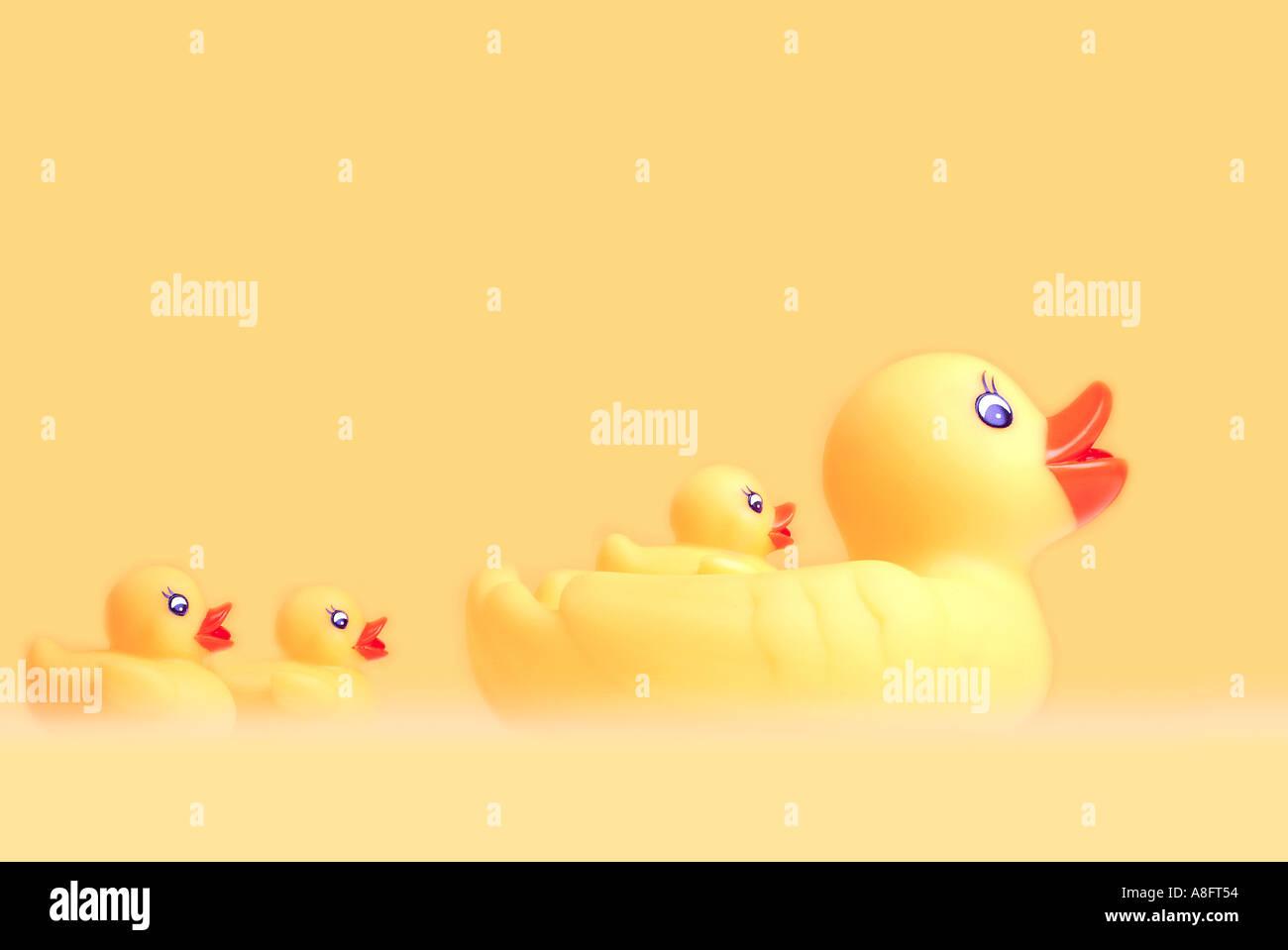 Ducks Badeenten - Stock Image