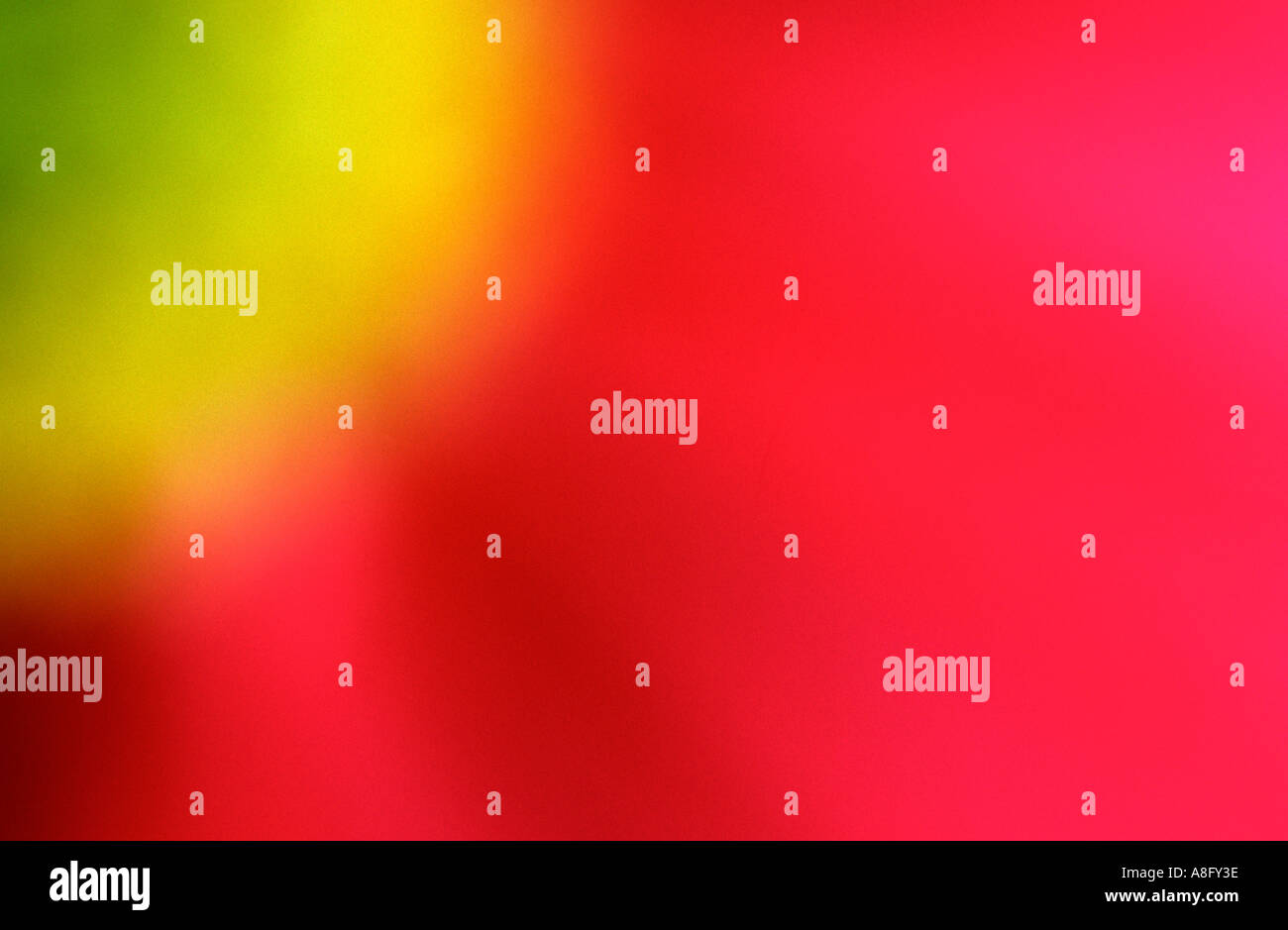 abstract red yellow and green flower - Stock Image