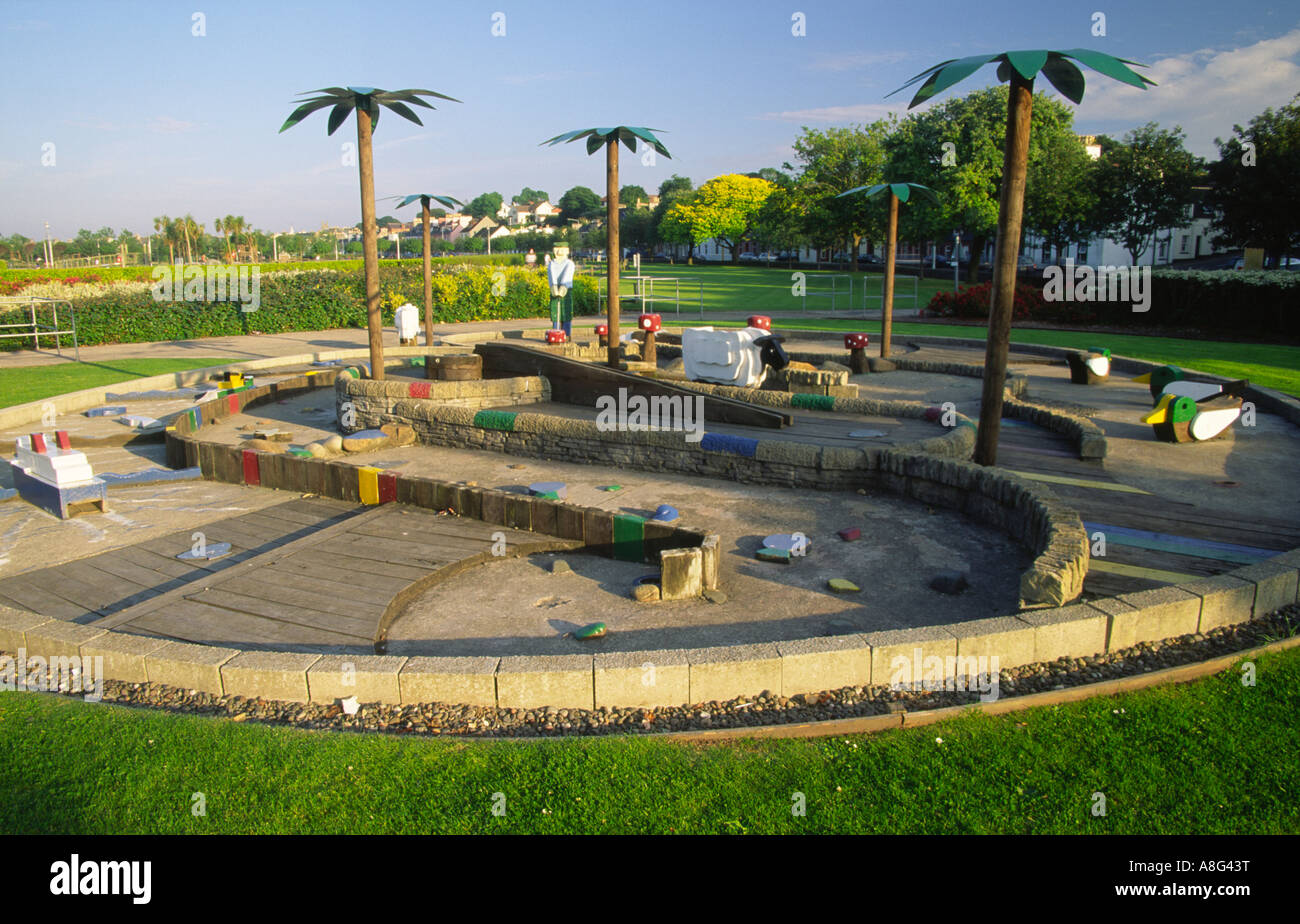 Crazy golf course in Agnew Park Stranraer Galloway Scotland UK - Stock Image