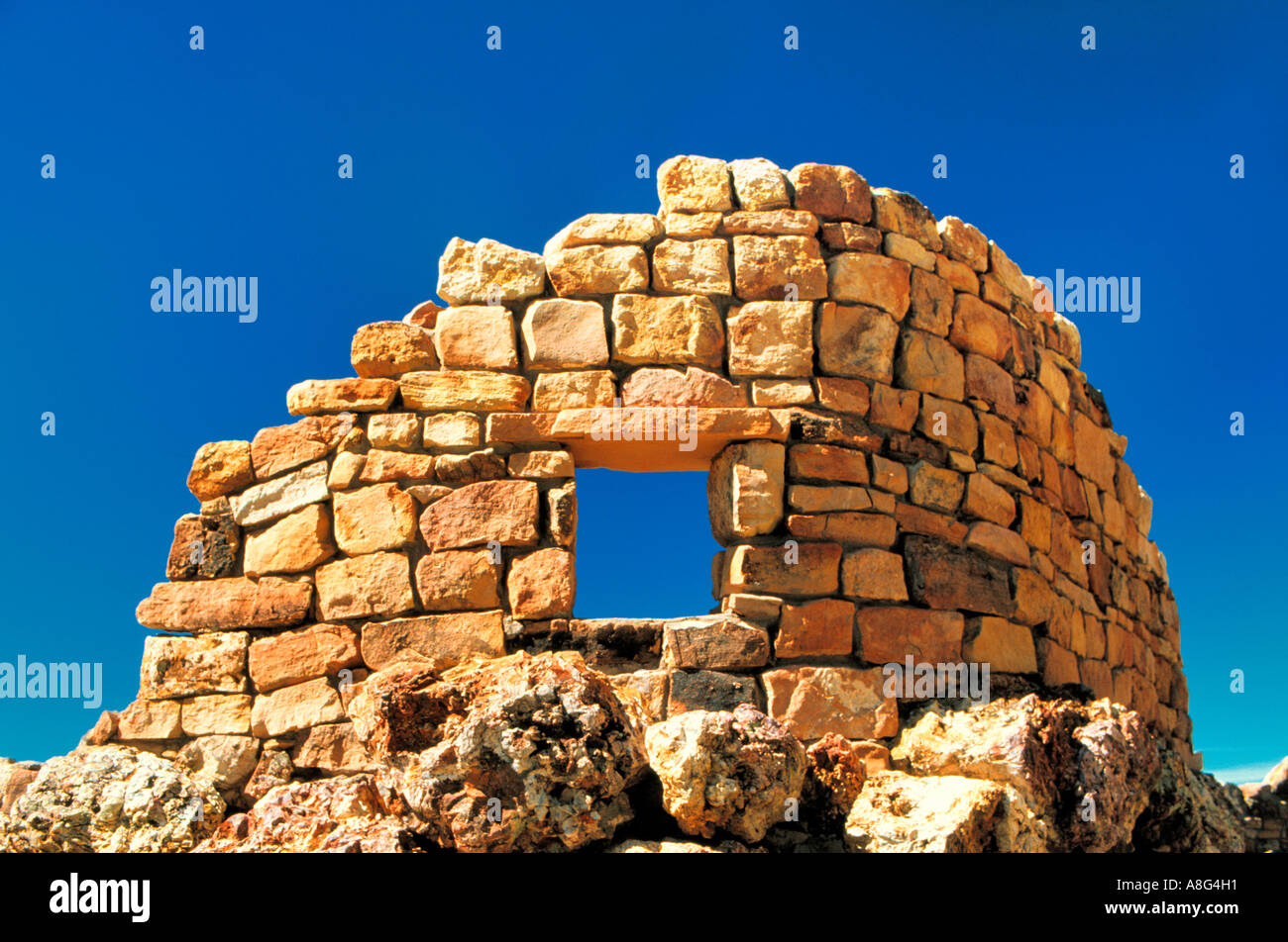 stonewall with window, Grand Canyon, USA - Stock Image