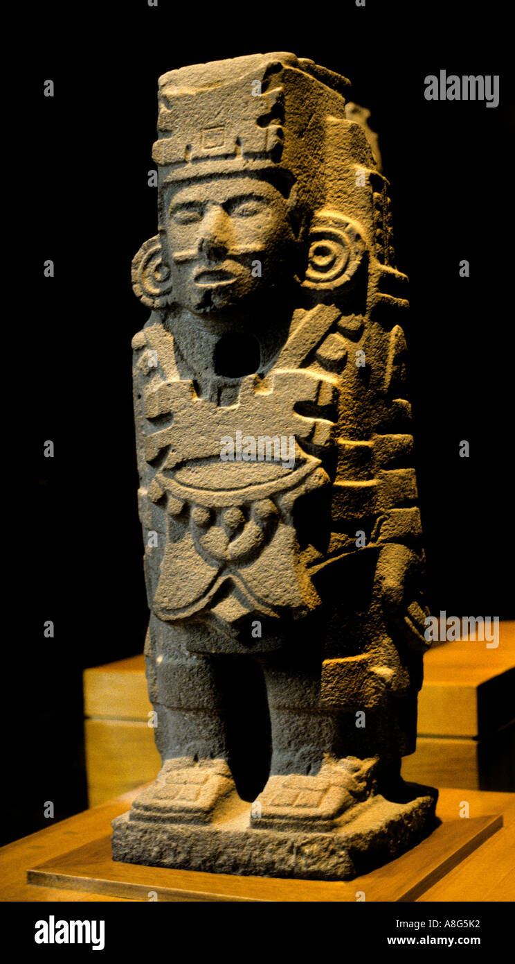 Museum Mexico Toltec Warriour Tula Hildago Atlante Stock Photo