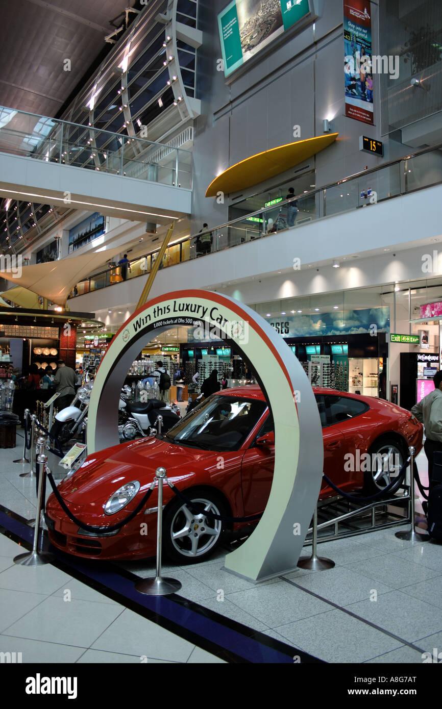 Dubai International Airport Sheikh Rashid Terminal Luxury Car Stock