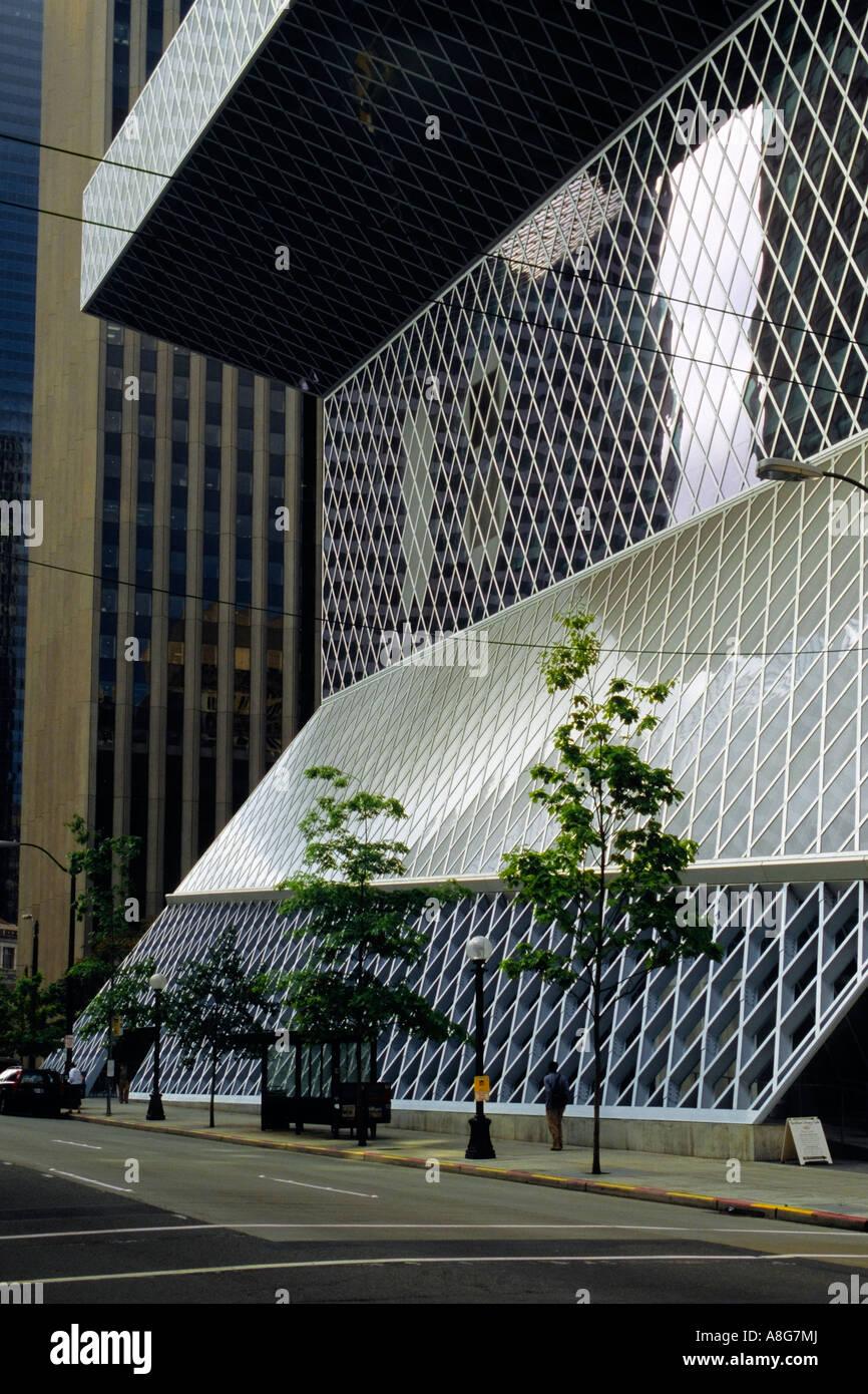 Central Library, Seattle Public Library, Washington USA. - Stock Image