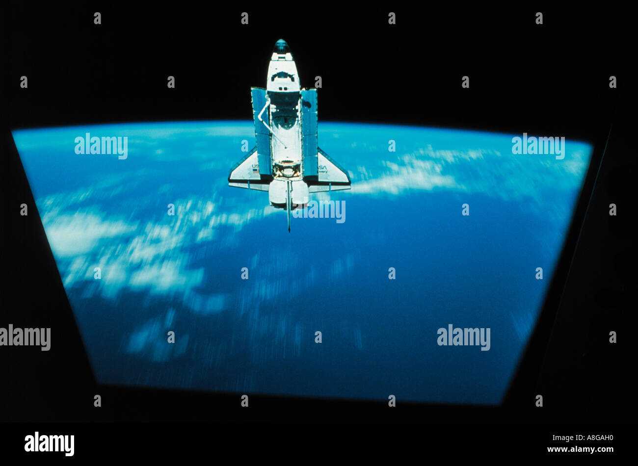 spaceshuttle with the earth in background, USA - Stock Image