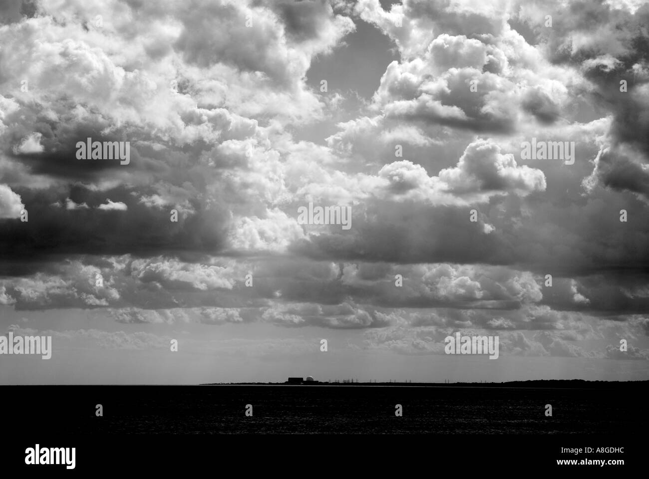 Sizewell B PWR Nuclear Power Station on the coast of Suffolk, eastern England. - Stock Image