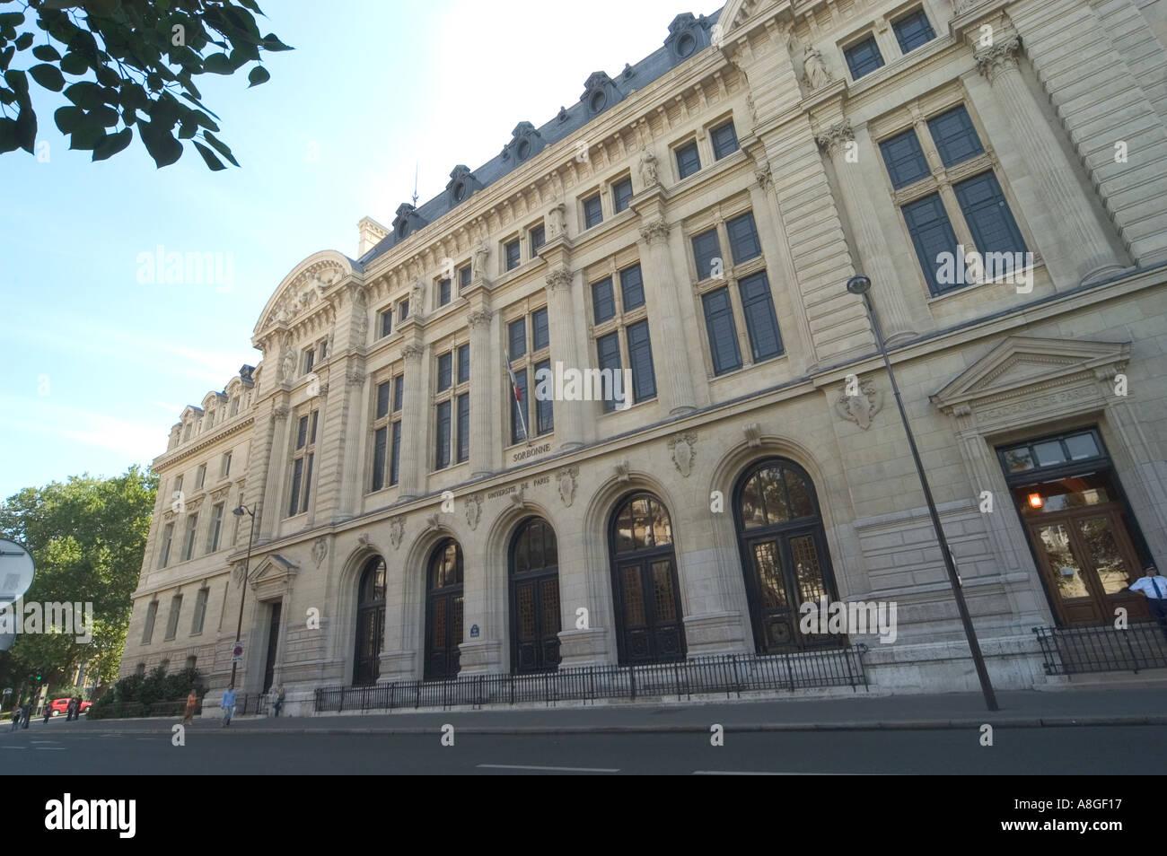 Sorbonne University Paris France Stock Photo