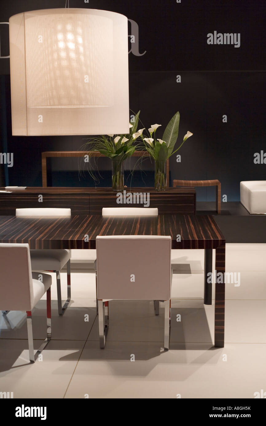 Modern dining room - Stock Image