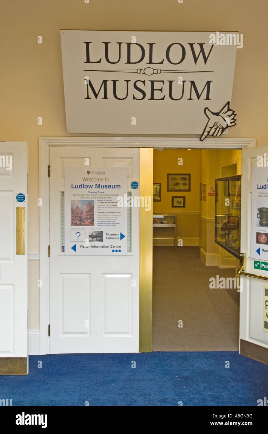 Ludlow Information and Museum Centre/Center, Shropshire,  UK. - Stock Image