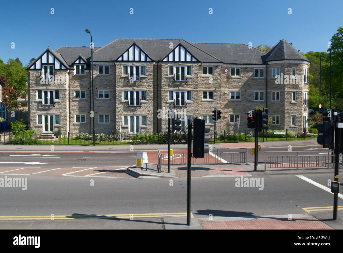 New completed block of apartments on Abbeydale Road in Sheffield 'Great Britain' - Stock Image