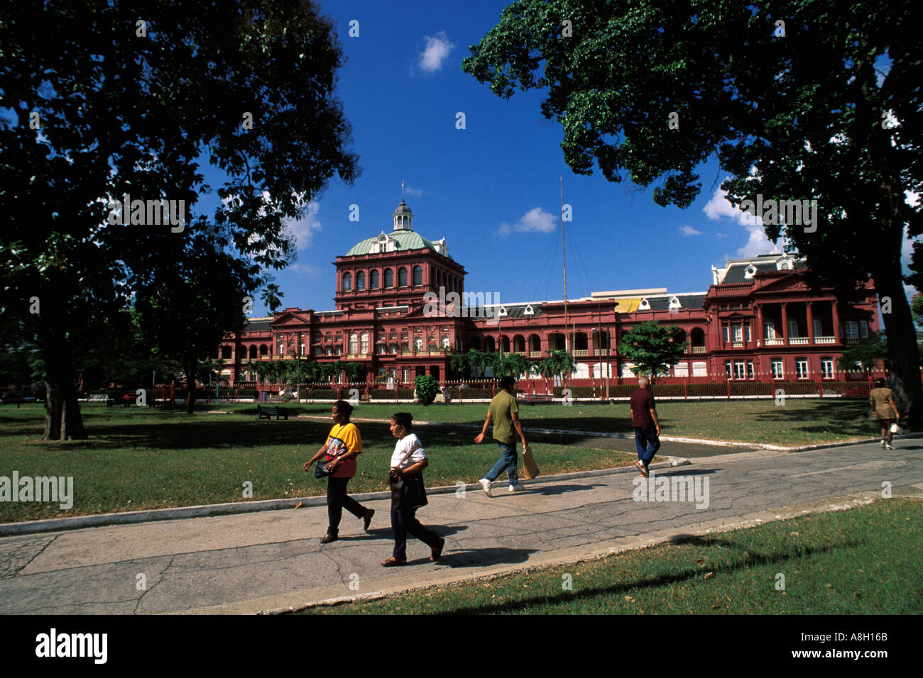 Trinidad, Port of Spain, Red House Parliament, Woodford Square Stock Photo