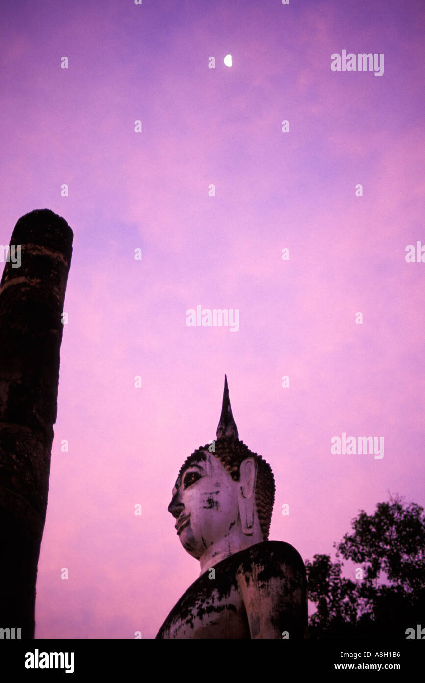 Thailand, Sukhothai, Wat Mahathat Stock Photo