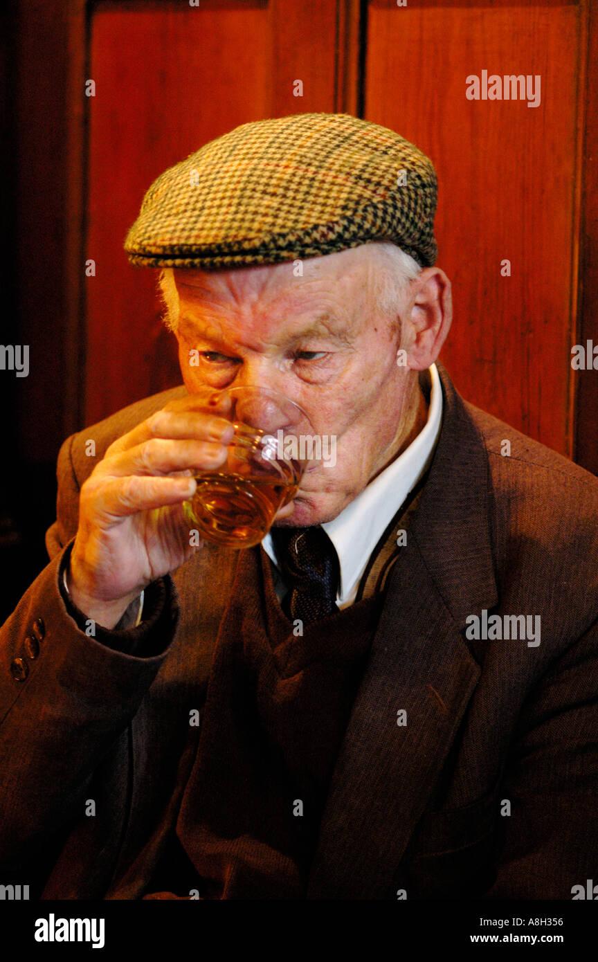 Ireland, Fermanagh, Irvinestown, Central Bar Stock Photo