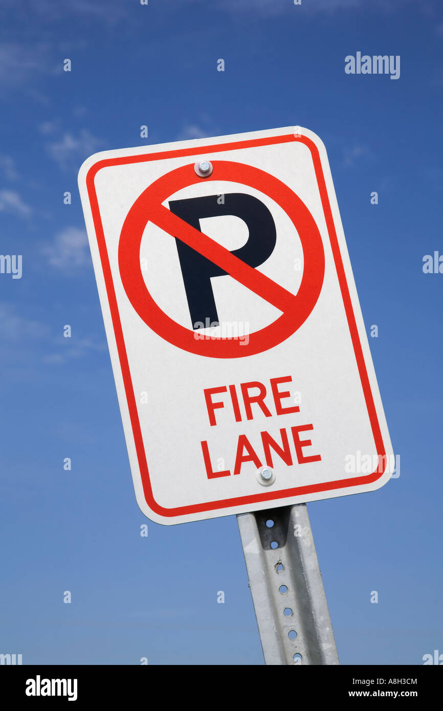 Fire Lane sign - Stock Image