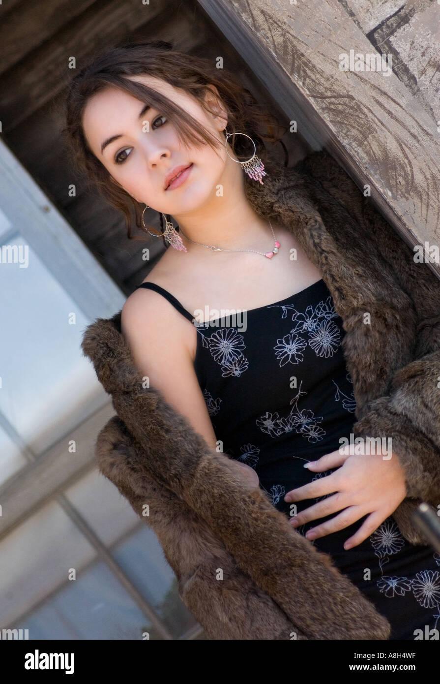 Caucasian Teen Girl 13 To 15 Years Wearing Black Evening