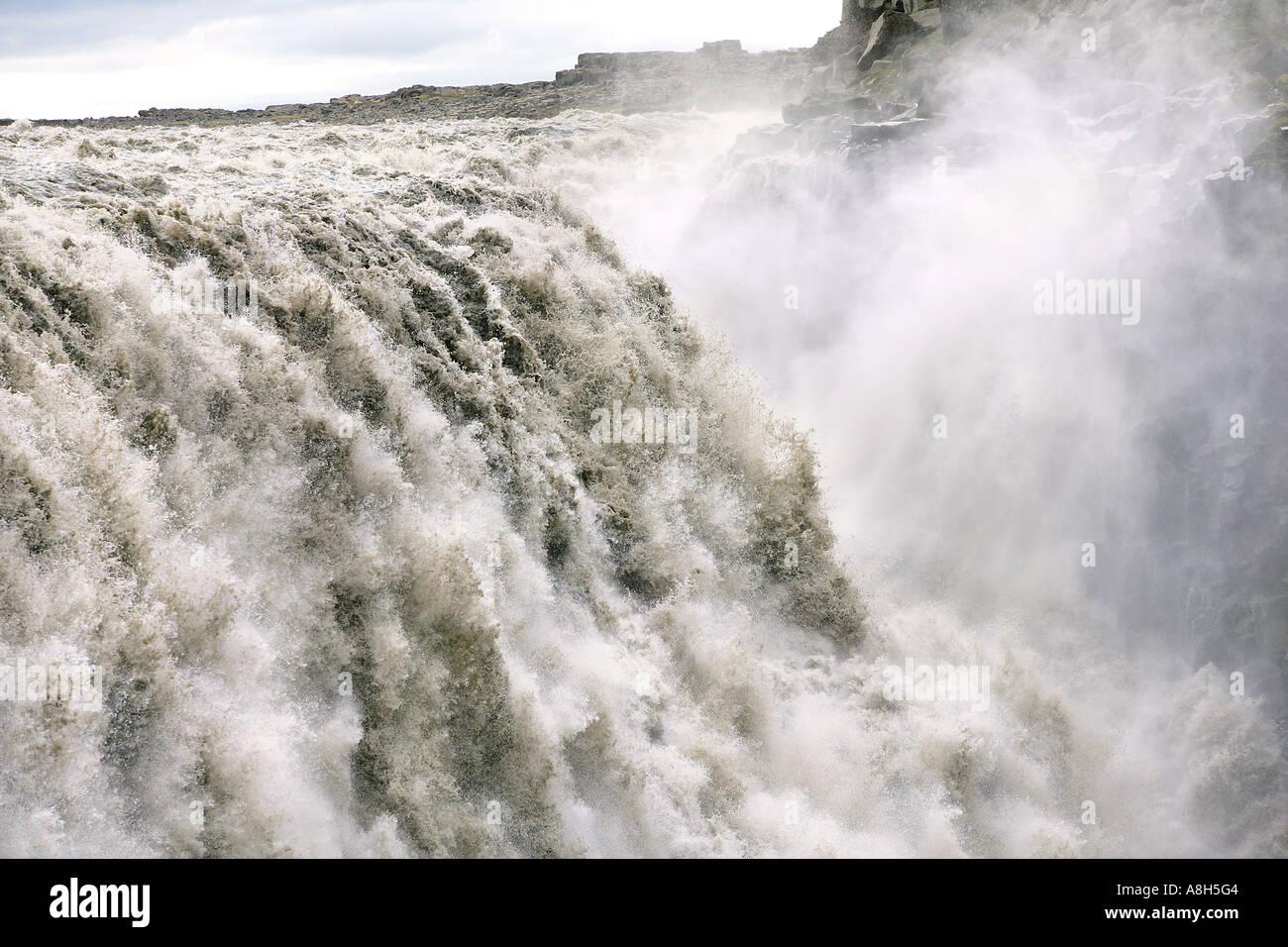 Dettifoss Water Falls Iceland - Stock Image
