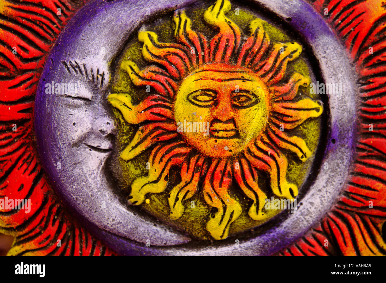Well-known Mexican art, Sun and Moon Stock Photo: 2234023 - Alamy EQ66