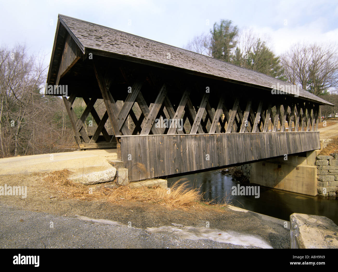 Keniston Covered Bridge Located in Andover New Hampshire USA North America NH US New England Northeast Travel Stock Photo