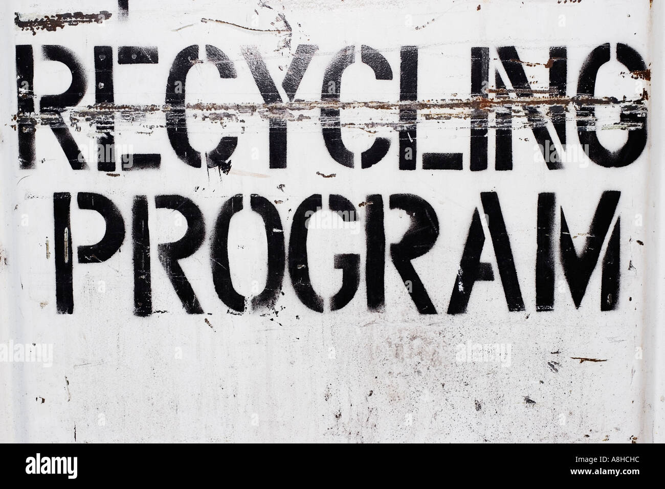 American Type Recycling Program - Stock Image