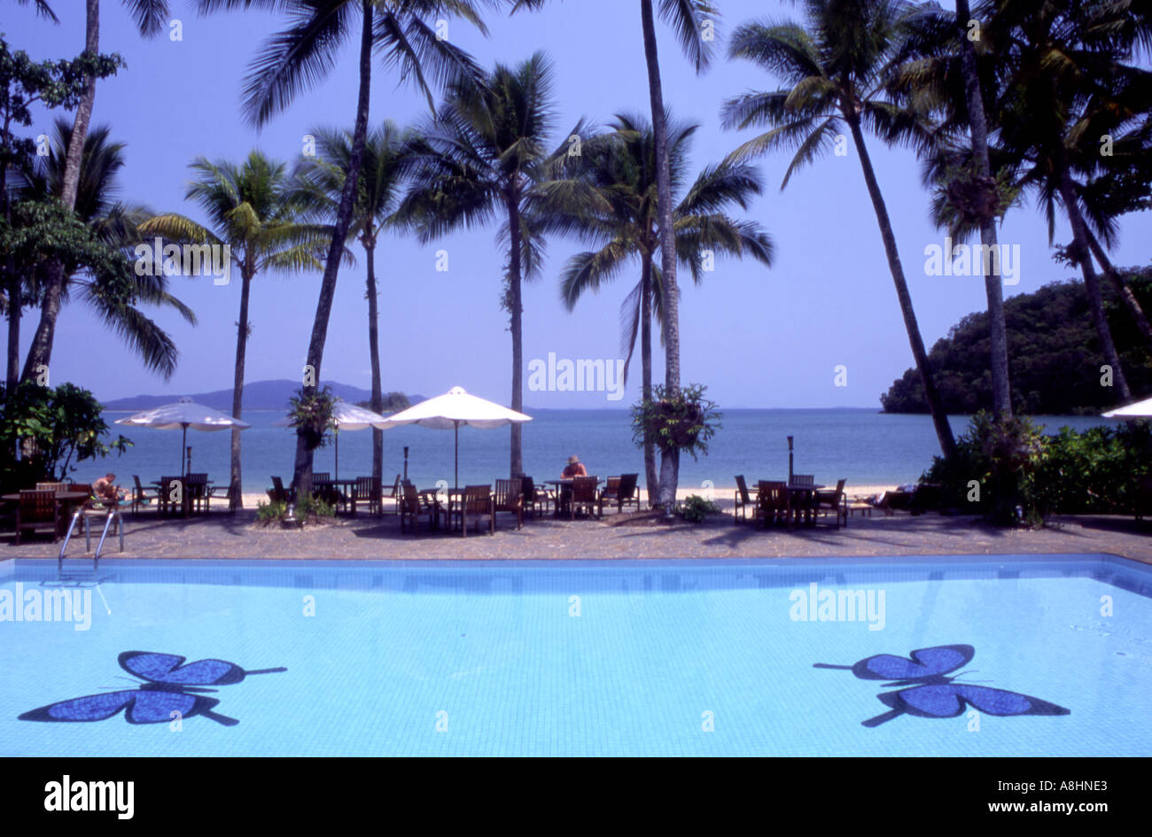 The Pool At The Dunk Island Resort Off Mission Beach