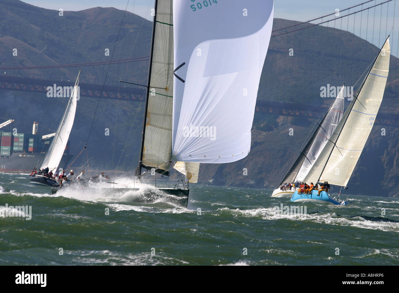 San Fransisco Big Boat Series Presented by Rolex 2004 transpac 52 Stock Photo