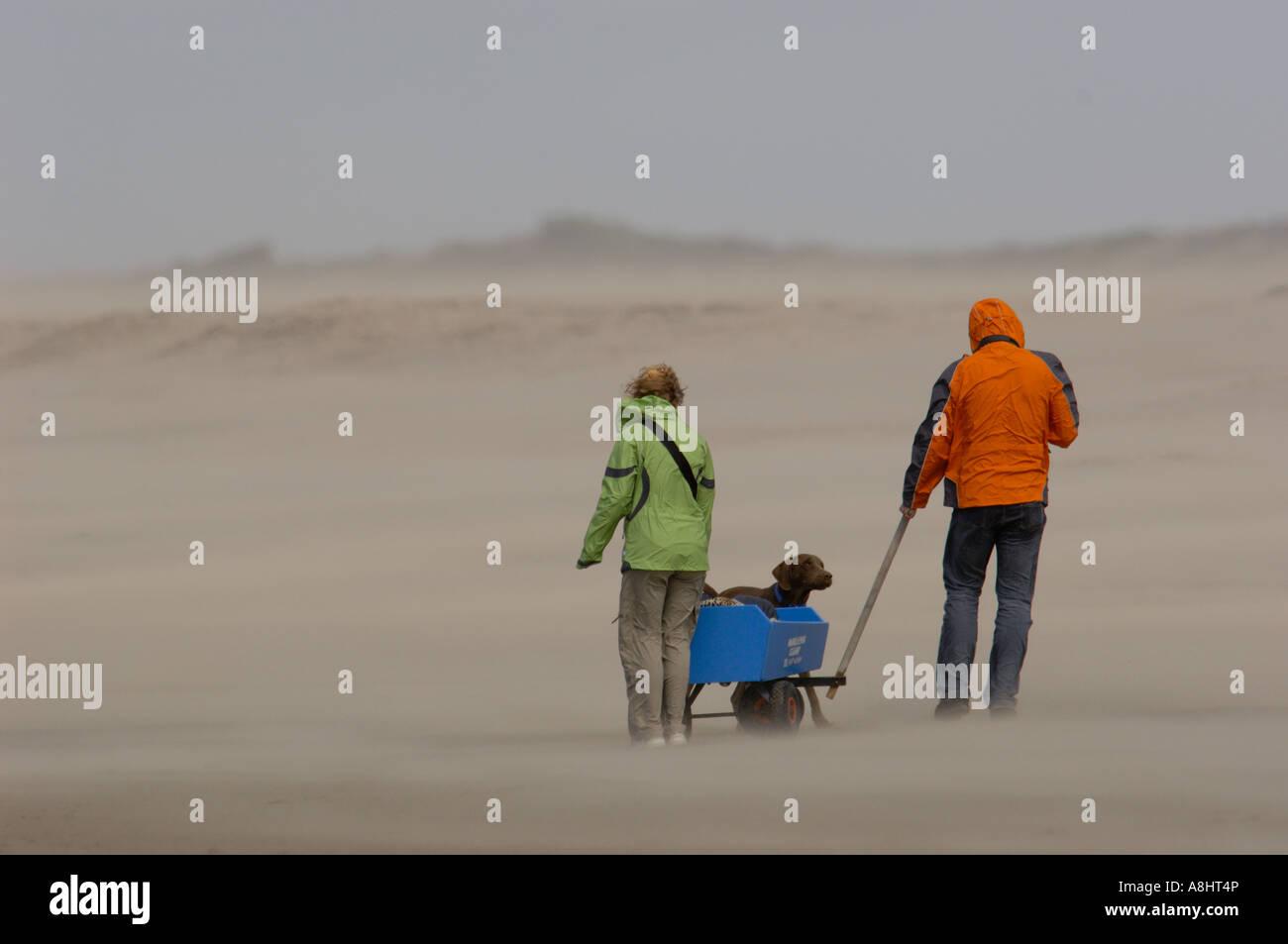Walking people at Oudorp Zeeland Holland Stock Photo