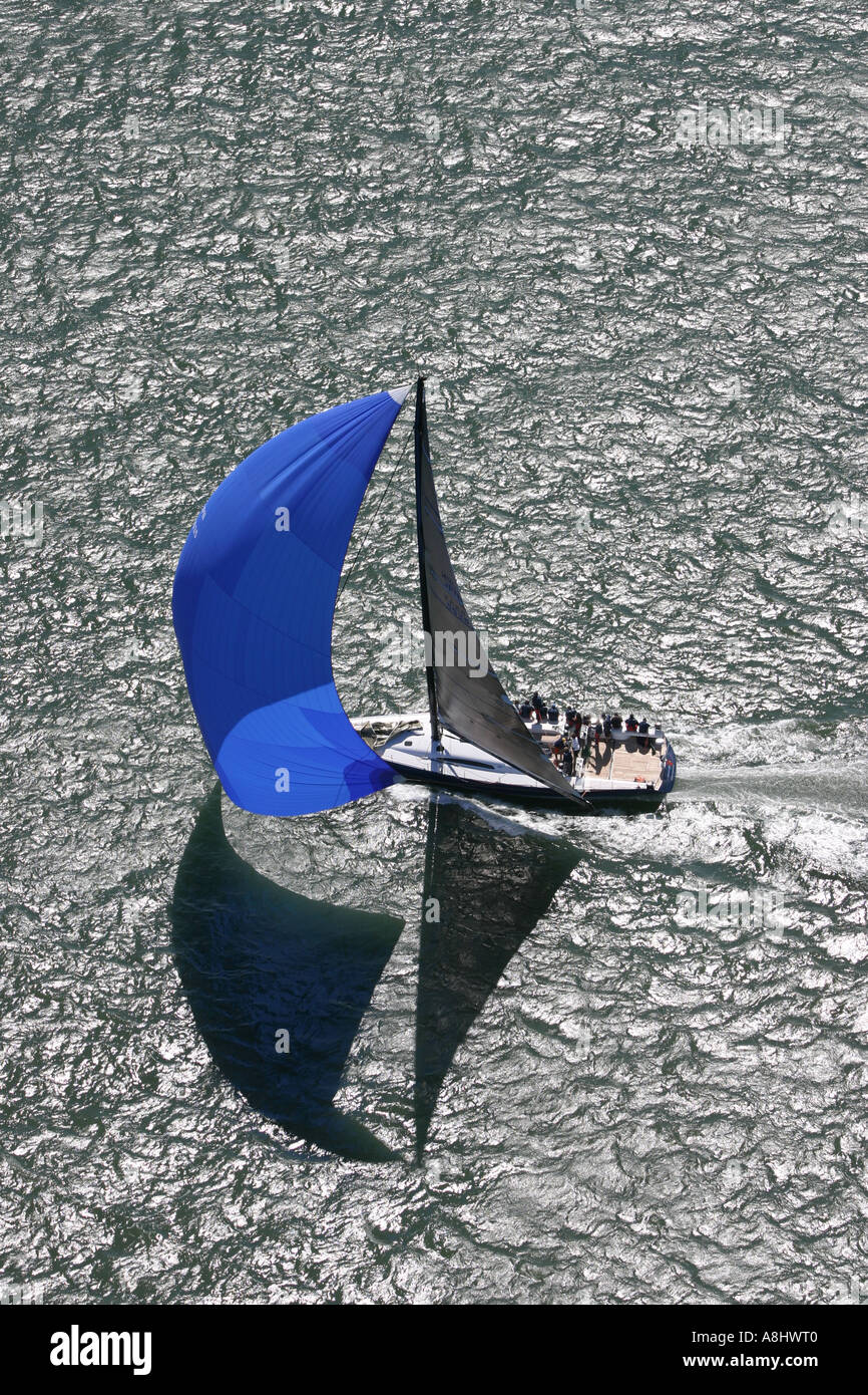 Yacht Racing in the USA Stock Photo