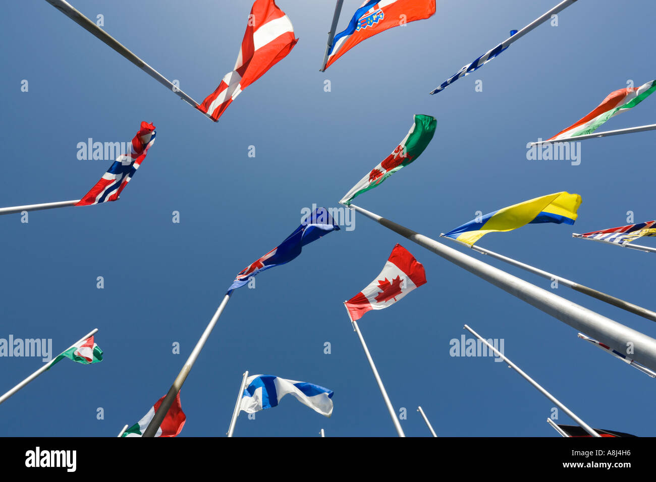 Flags of the World Nanaimo Vancouver Island British Columbia Canada - Stock Image