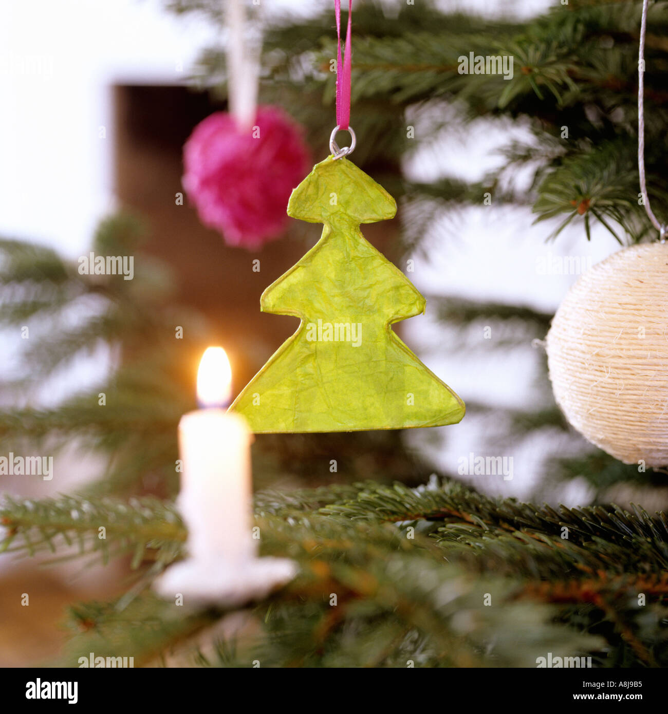 handmade christmas decoration stock image - Modern Contemporary Christmas Decorations
