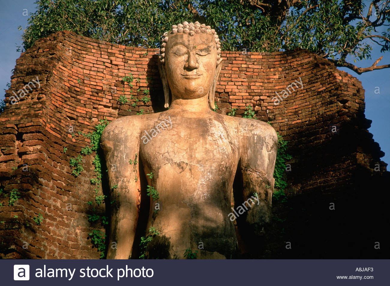 THAILAND, Kamphaeng Phet city, Wat Phra Sit Iriyabot, Sukhothai style, post-classic period. - Stock Image