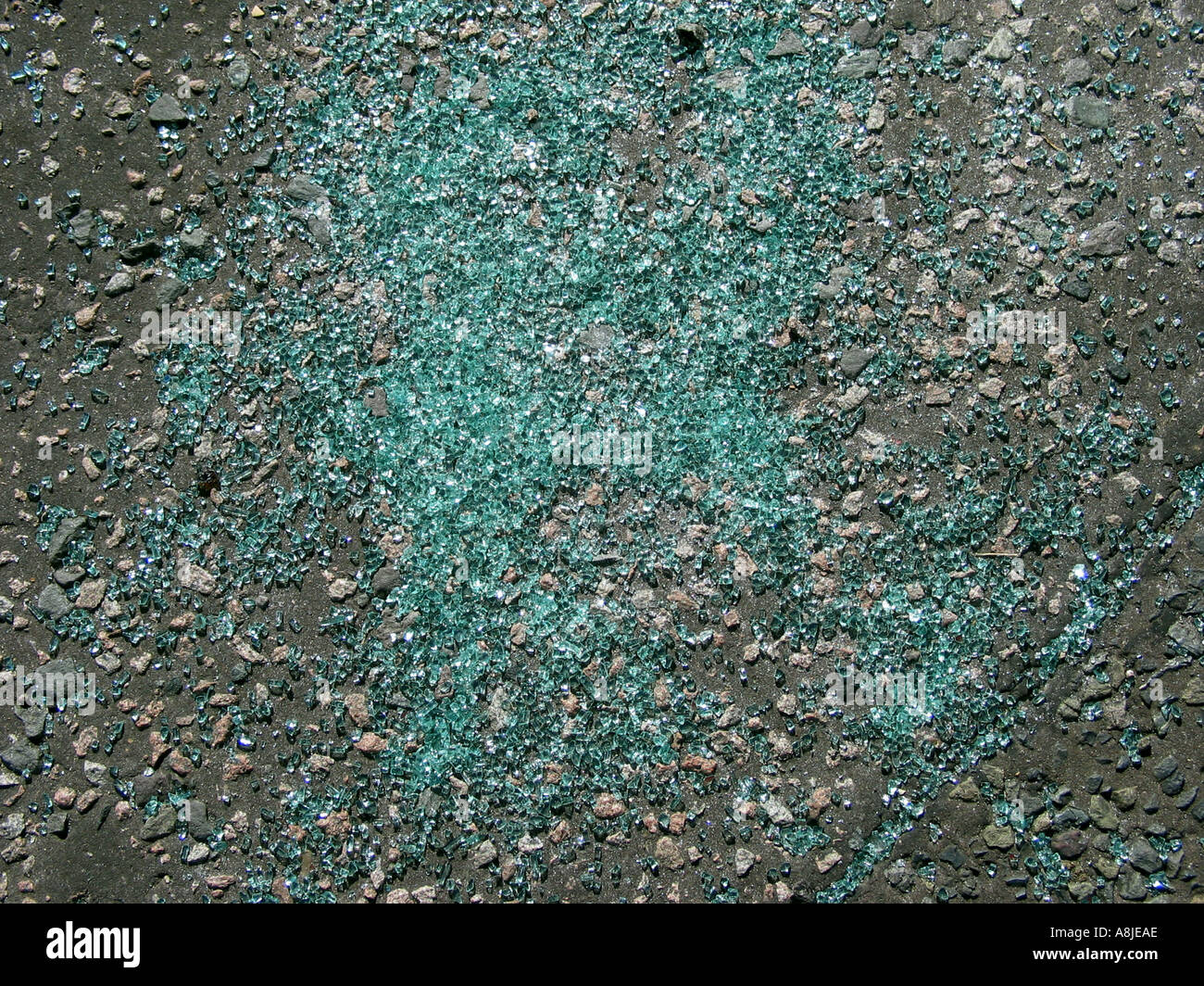 Glass On Road - Stock Image