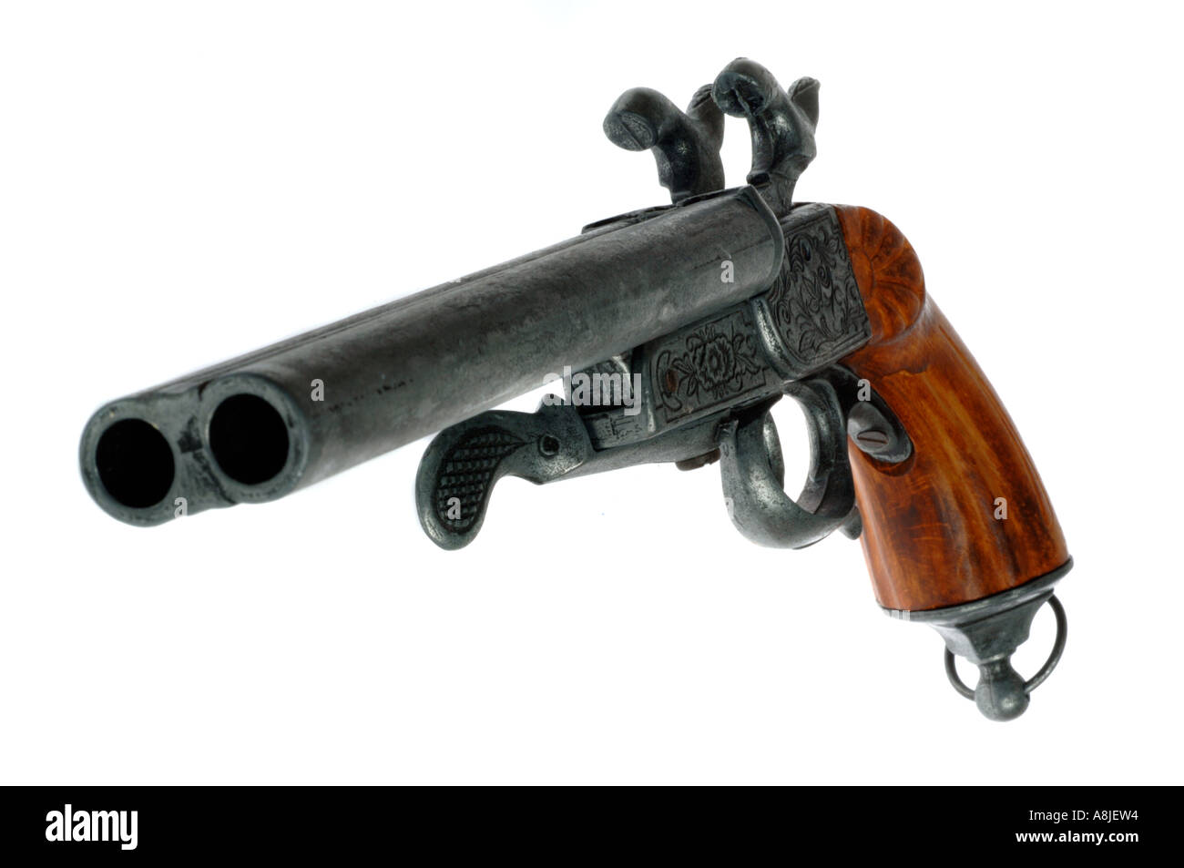 Antique gun pistol - Stock Image