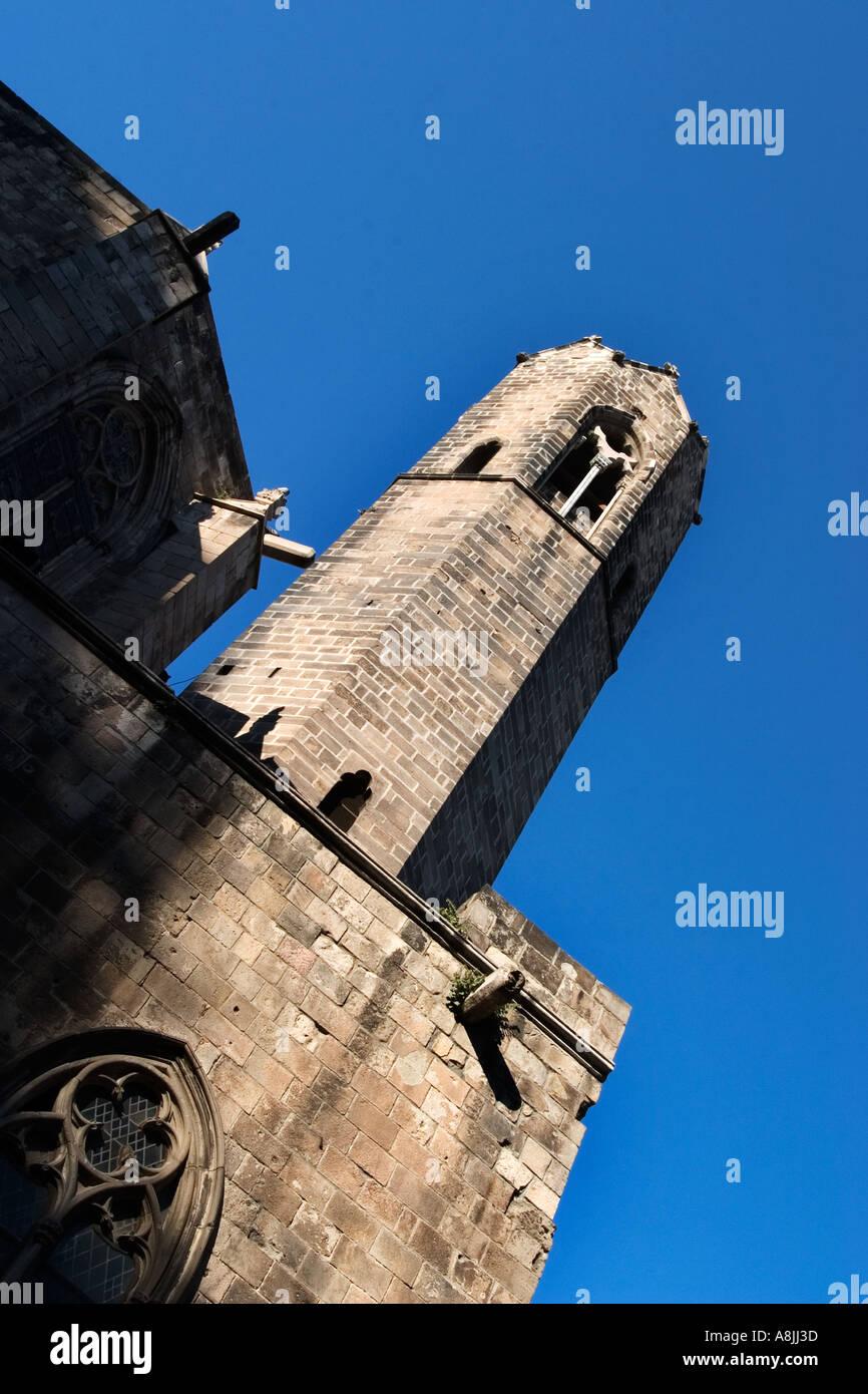 Capella de Santa Agata at the Palacio Real Mayor in Placa del Rei Barcelona - Stock Image