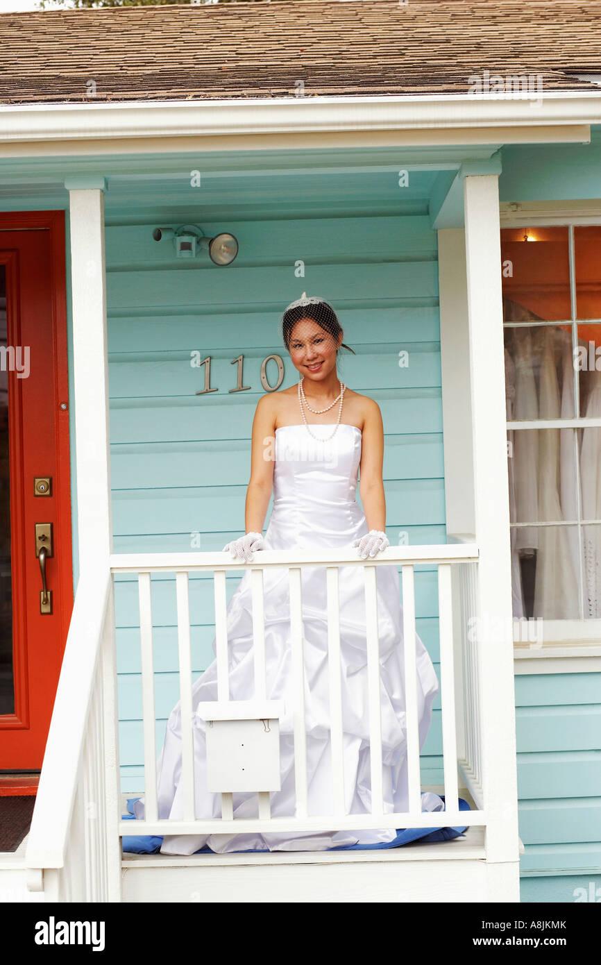 Asian American Bride White Wedding Stock Photos & Asian American ...