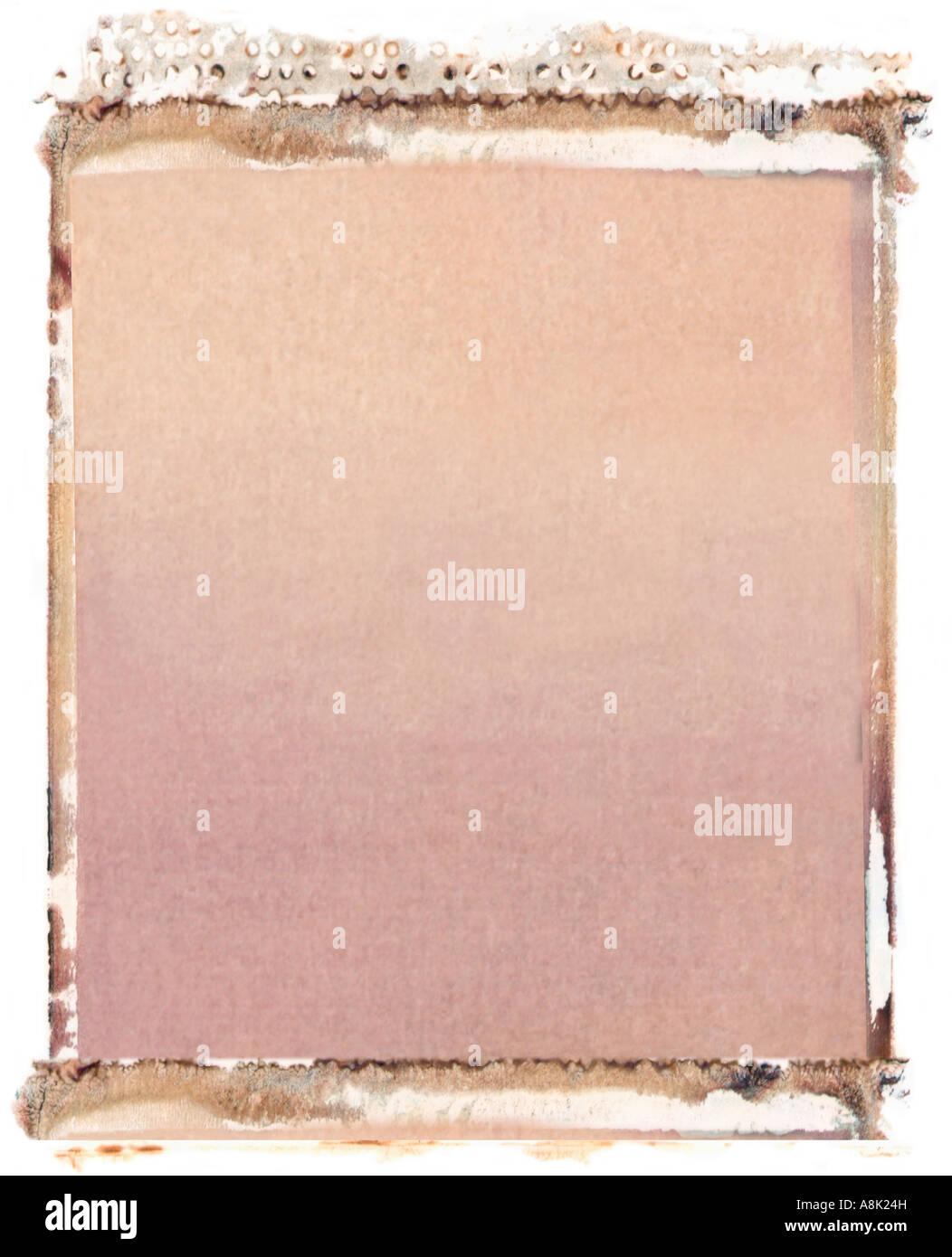 Blank 4x5 format polaroid transfer on white background Stock Photo ...