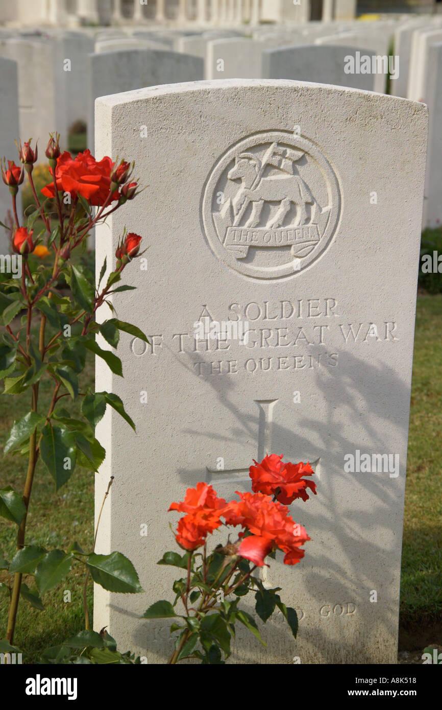 British First World War Cemetery Vis en Artois Pas de Calais France - Stock Image