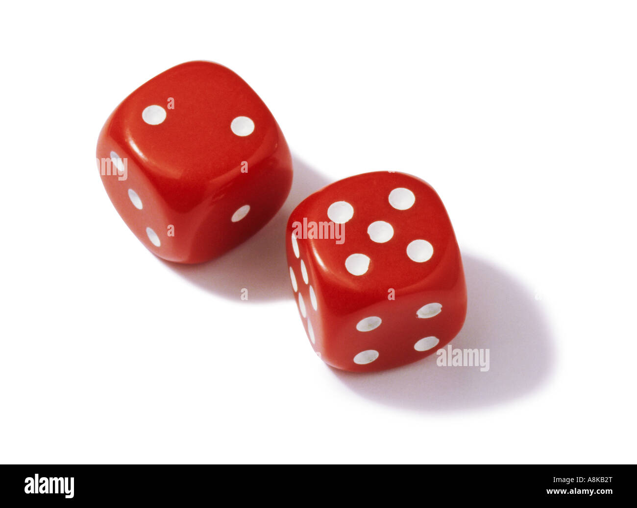 A pair of red dice - Stock Image