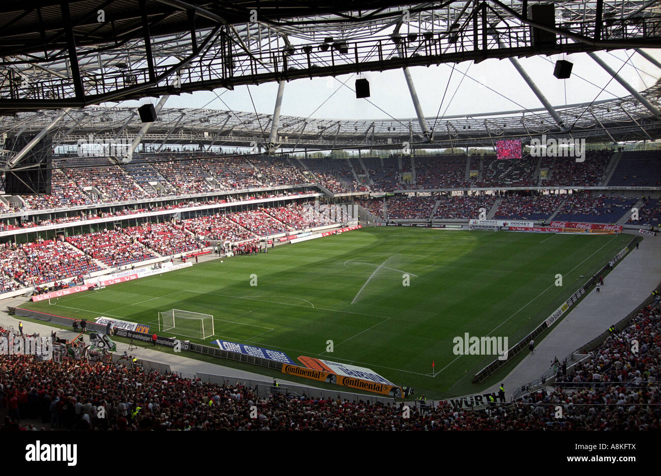 The AWD Arena, home to Hannover 96 Football Club, Lower Saxony, Germany. - Stock Image