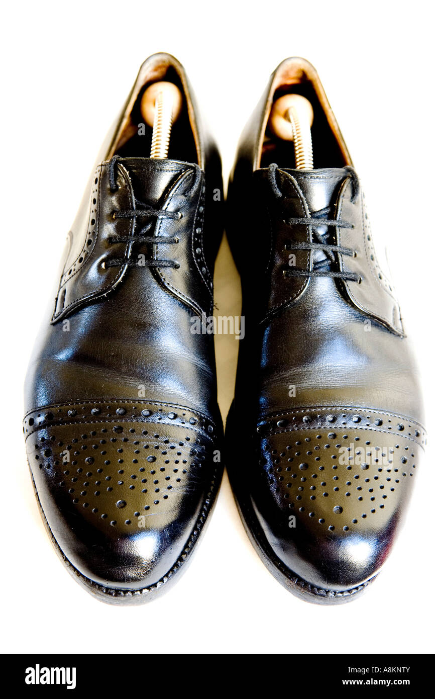 Traditional gentlemen´s footwear, so-called 'Budapester' - Stock Image