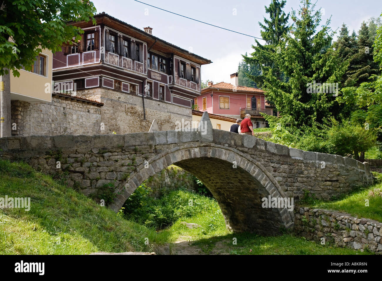 Bridge of the first gunshot, museum town Koprivstiza, Bulgaria - Stock Image