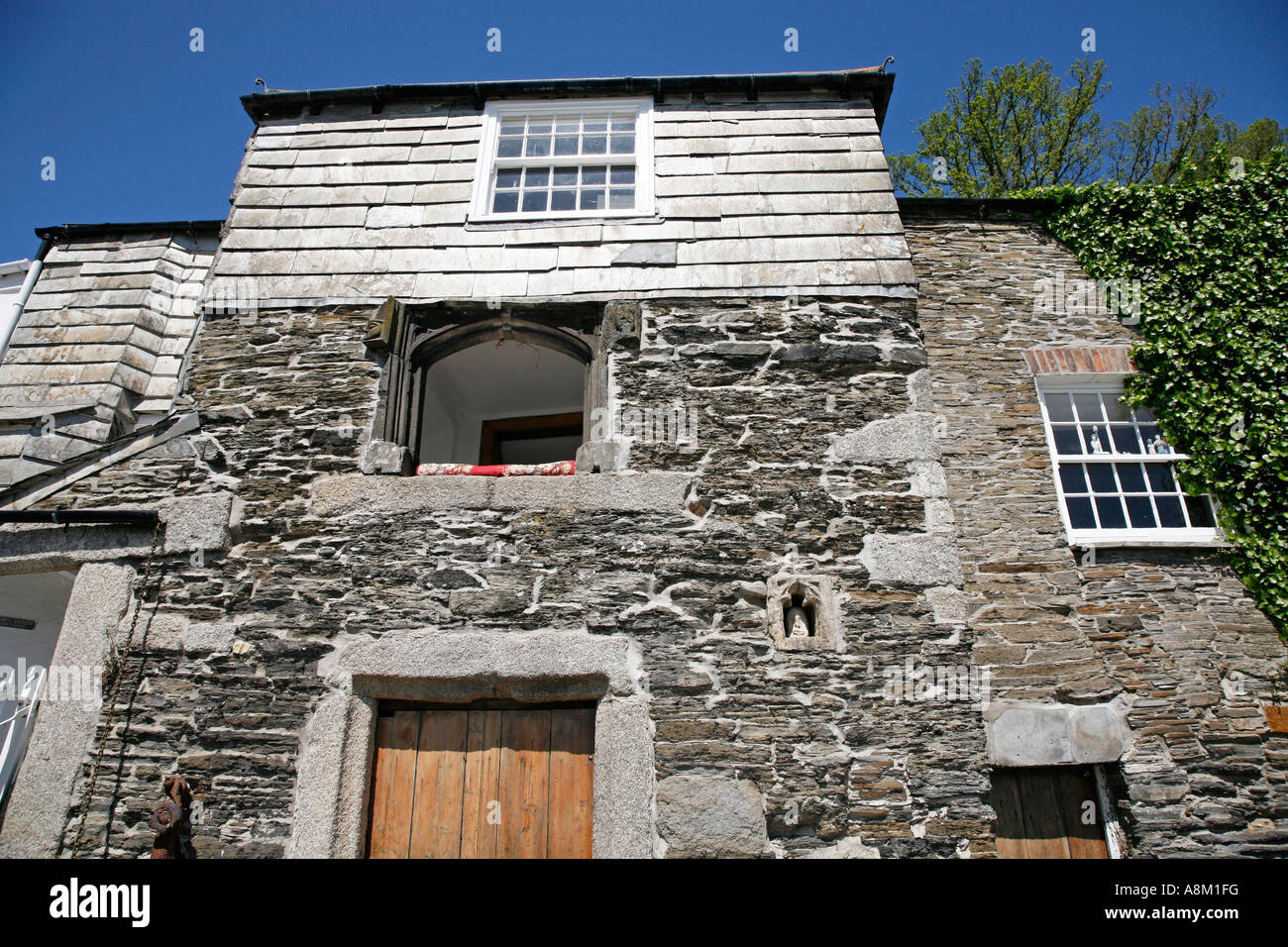 The Oldest House In Padstow Cornwall England UK Europe Stock