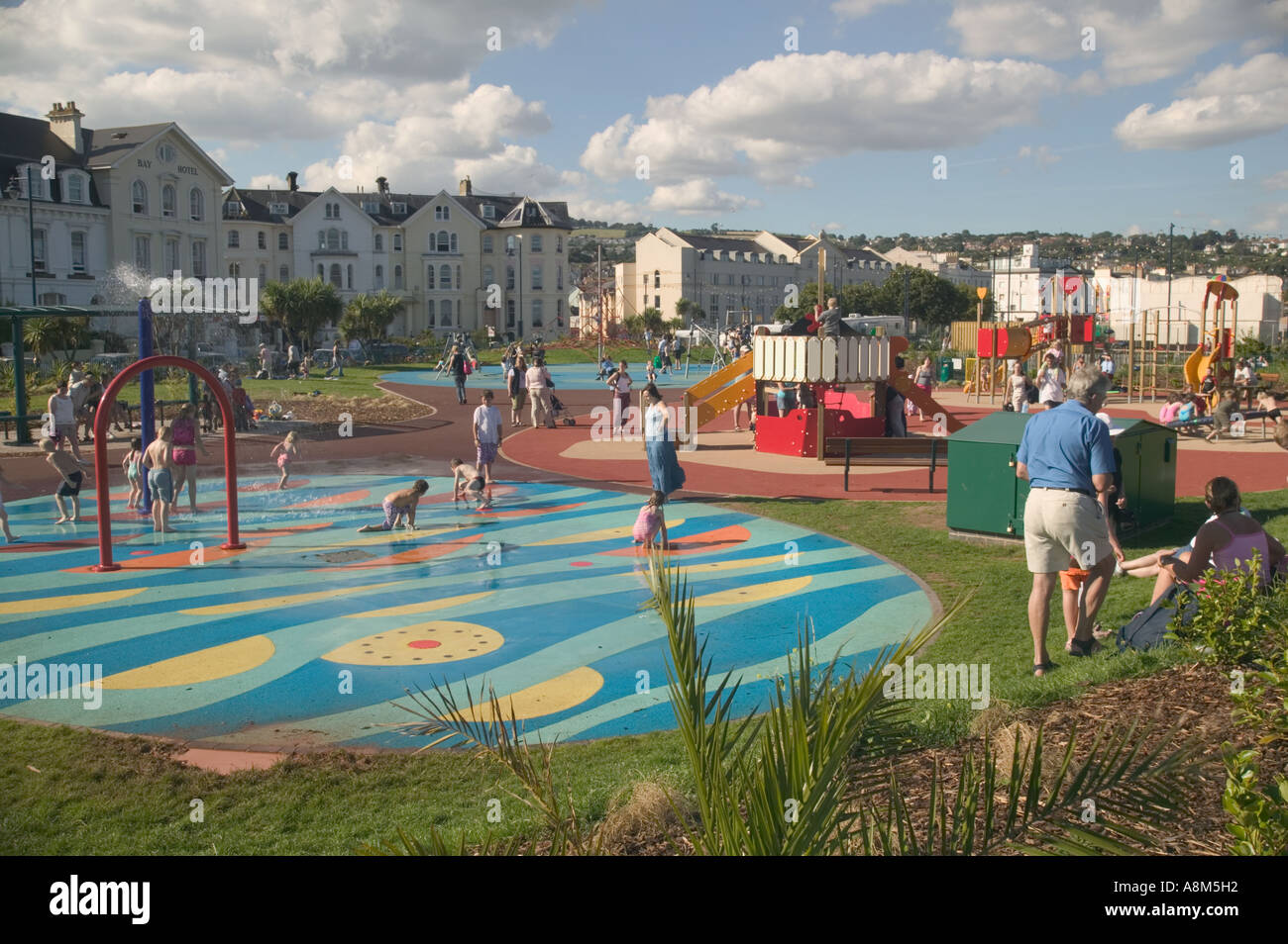 In Britains Playgrounds Bringing In >> In A Sea Front Playground Teignmouth Devon Great Britain Stock Photo