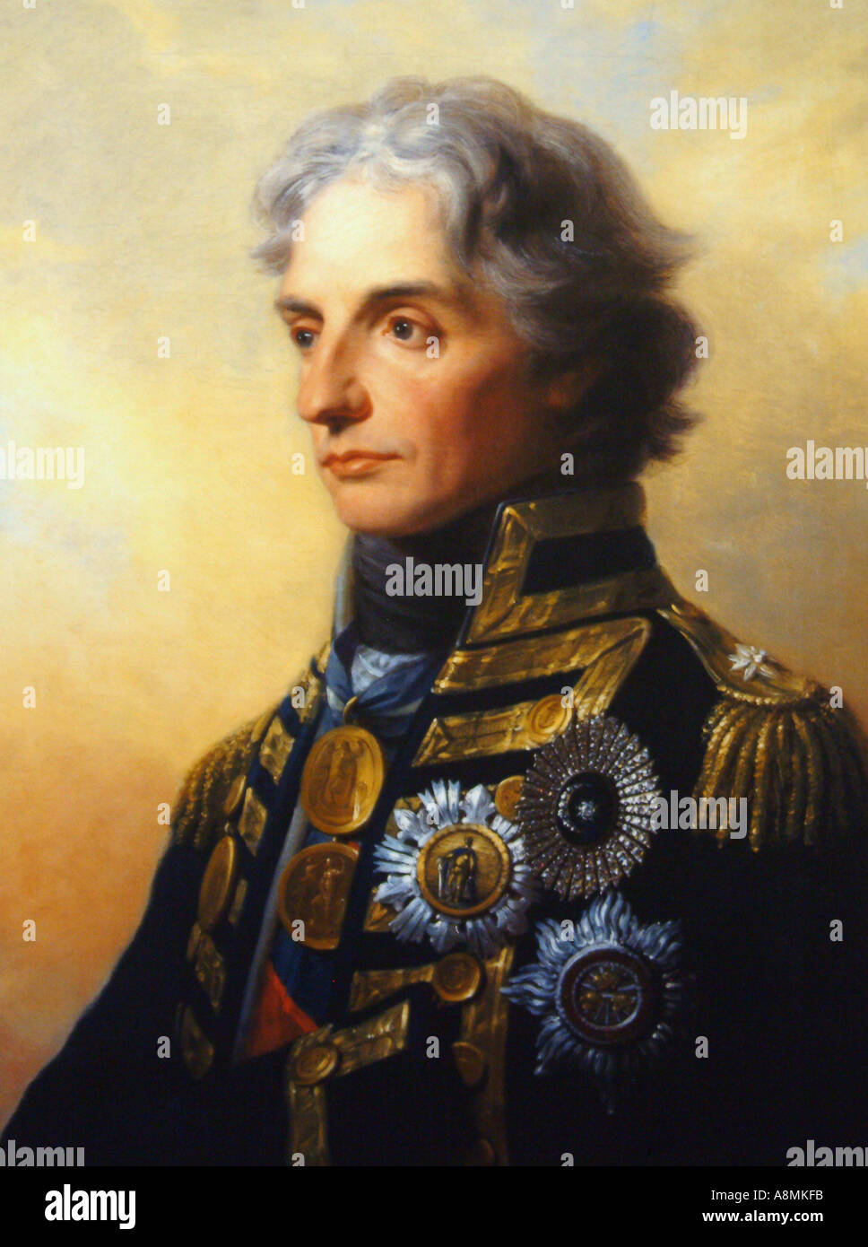 Rear Admiral Lord Nelson Portrait by Heinrich Fuger 1800  Stock Photo