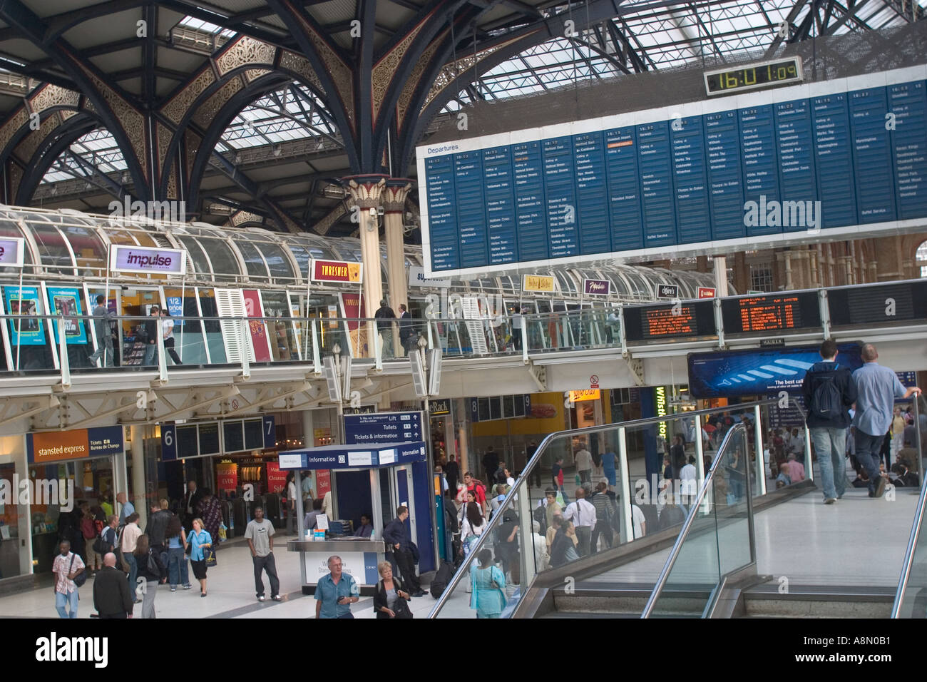 Liverpool Street Station City of London GB UK - Stock Image