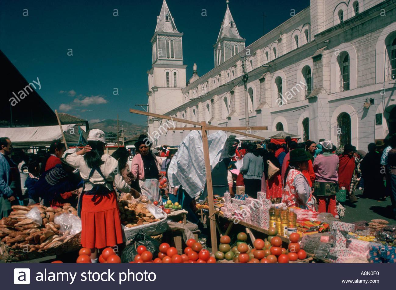 ECUADOR Andes Chimborazo province Riobamba city market Stock